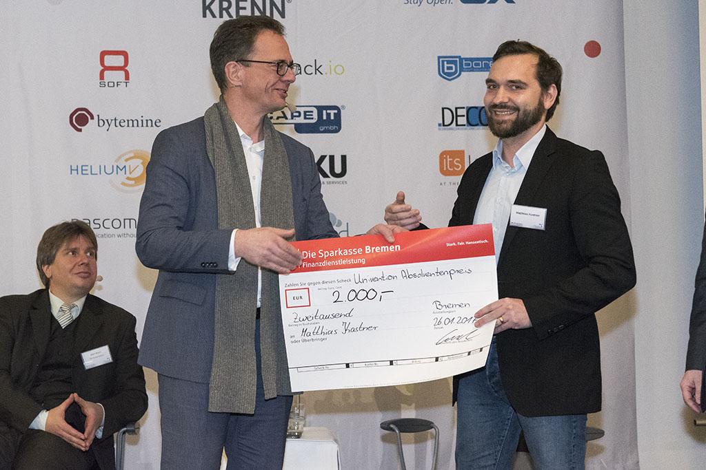 Matthias Kastner - Gewinner Univention Absolventenpreis 2016