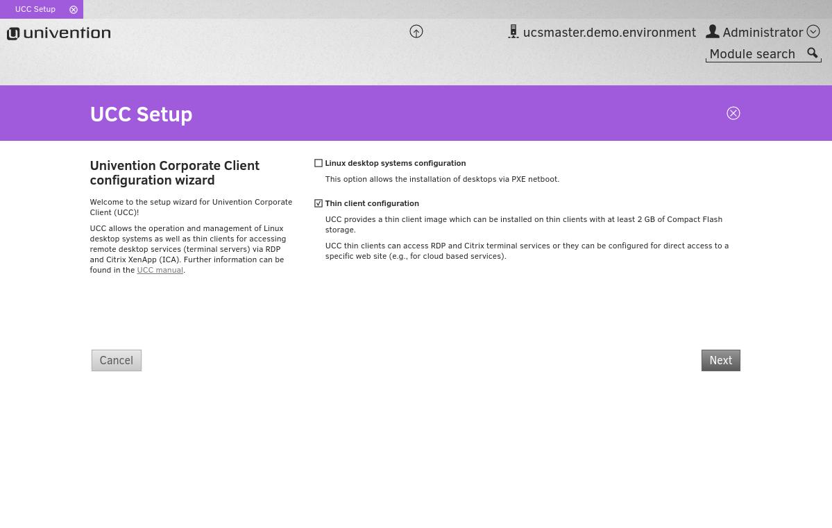 Univention_Corporate_Client_Setup