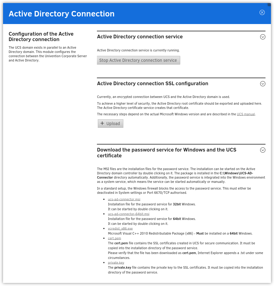 Active Directory Connection Setup