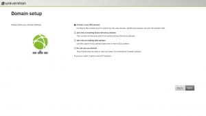 Domain setup during UCS installation