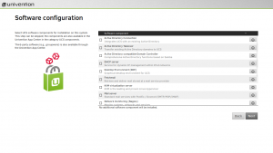 Software configuration during UCS installation
