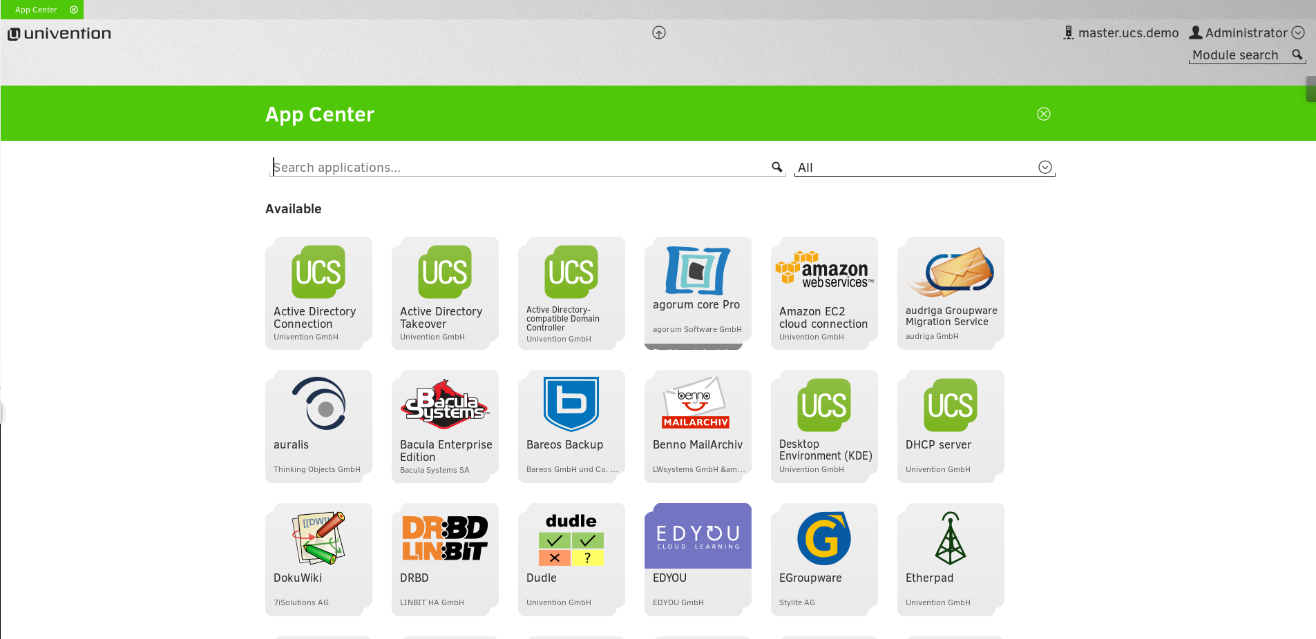 UCS - App Center overview Apps