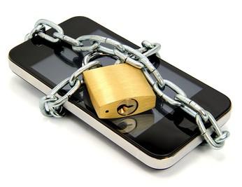 Smartphone mit Schloss