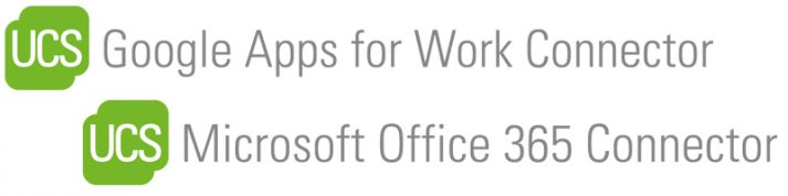 Logos Google apps for work connector und microsoft office 365 connector