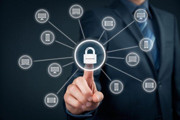 IT Netzwerk Sicherheit Illustration