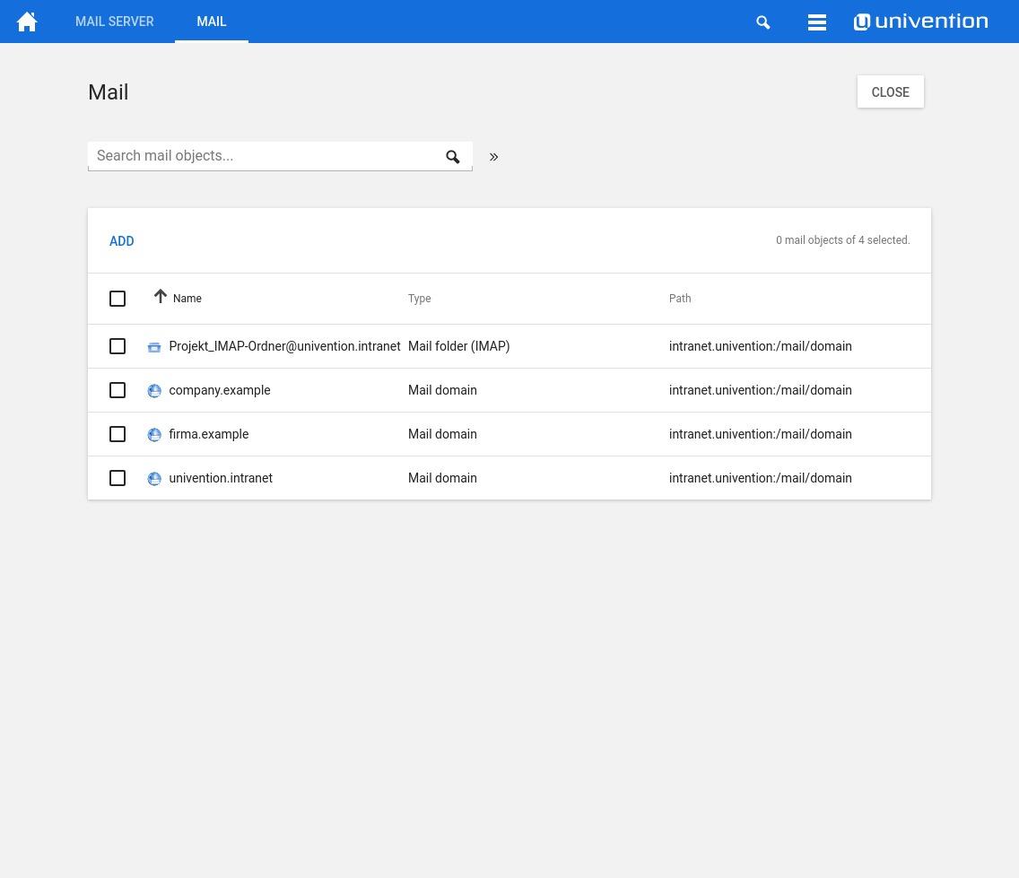 Screenshot UCS 4.2 Mailservices