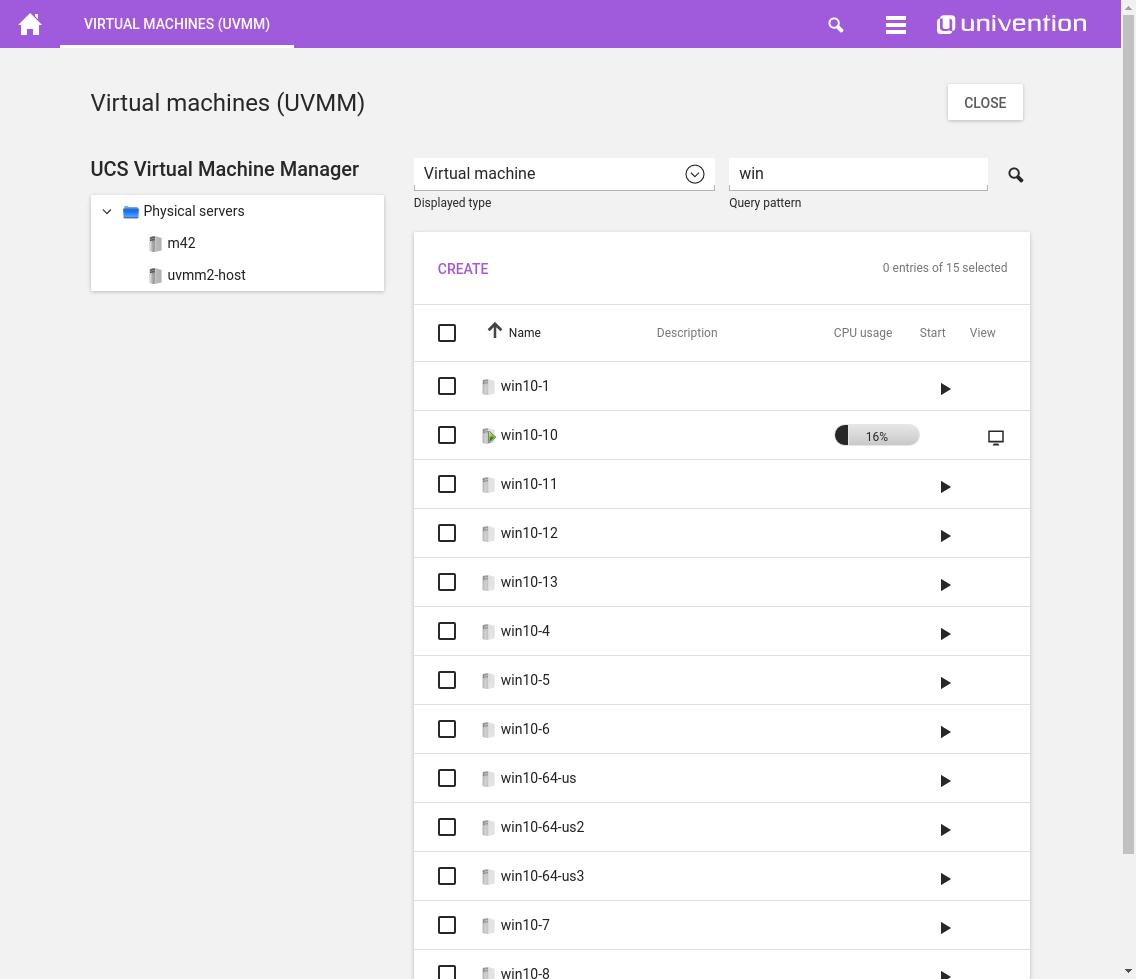 Screenshot UCS Virtual Machine Manager UVMM
