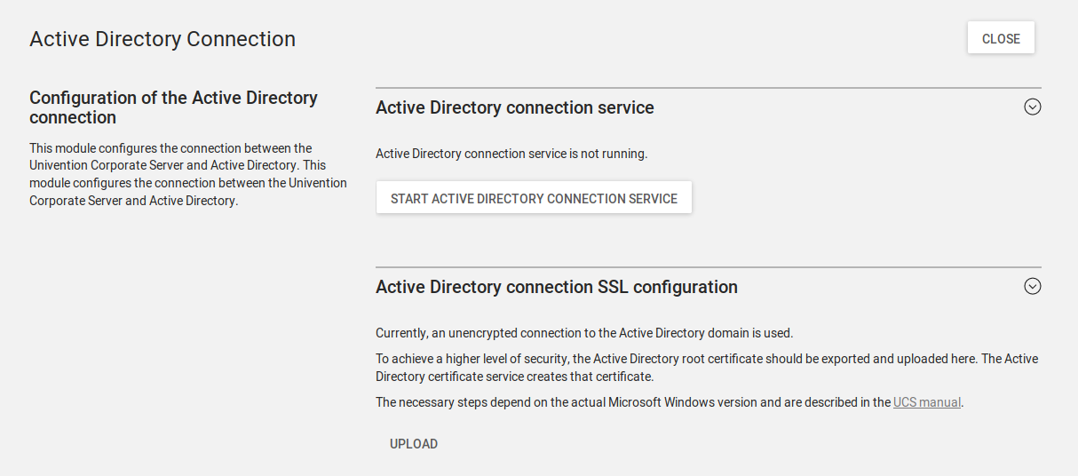 Screenshot Active Directory Connector UCS 4.2