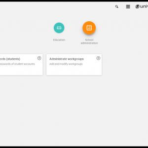 Screenshot UCS@school 4.2 module overview teacher as administrator
