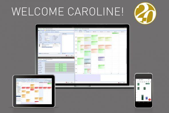 Welcome Screenshot of groupware Tine version Caroline
