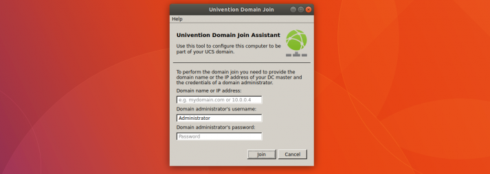 Univention Domain Join Assistant for integration of Ubuntu clients