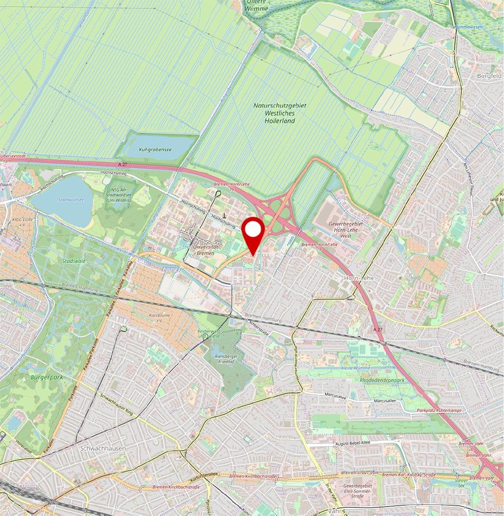 Karte Mary-Somerville-Straße 1, 28359 Bremen