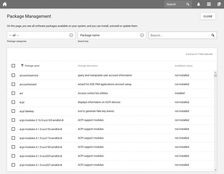 Screenshot of UCS 4.4: Package Management