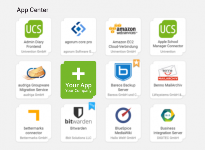 Image: Your App in the App Center