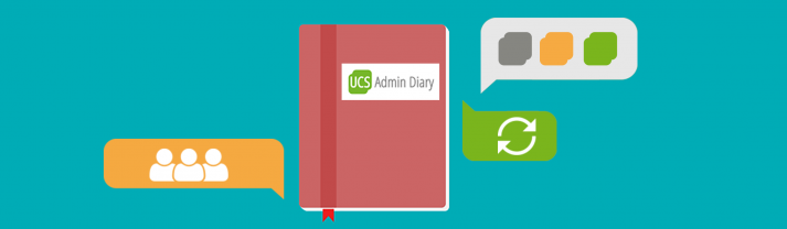 UCS Admin Diary: quick overview of all administrative events in a