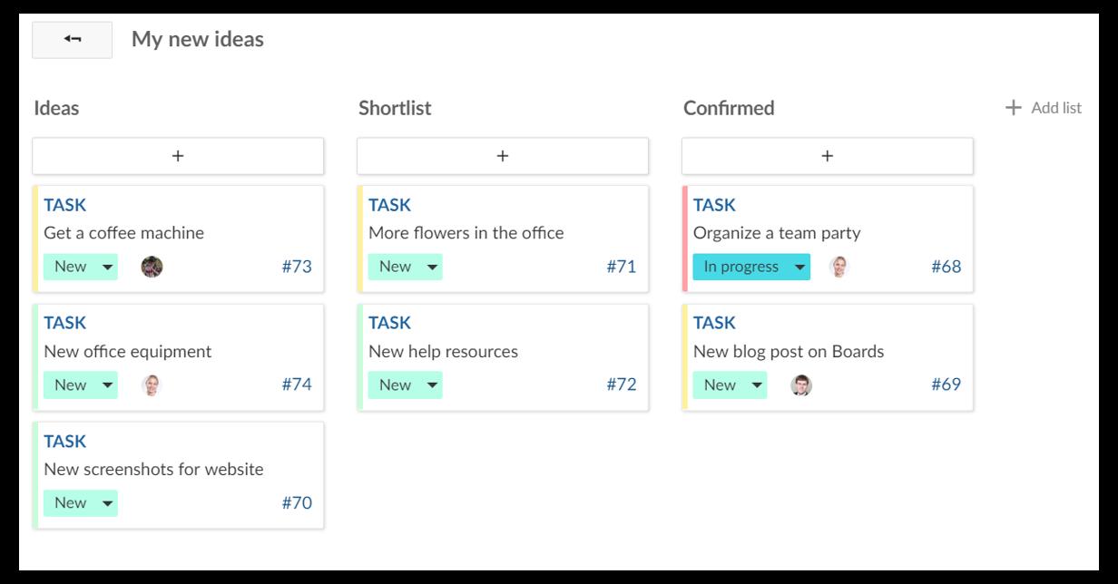 Configuration of flexible Boards in OpenProject
