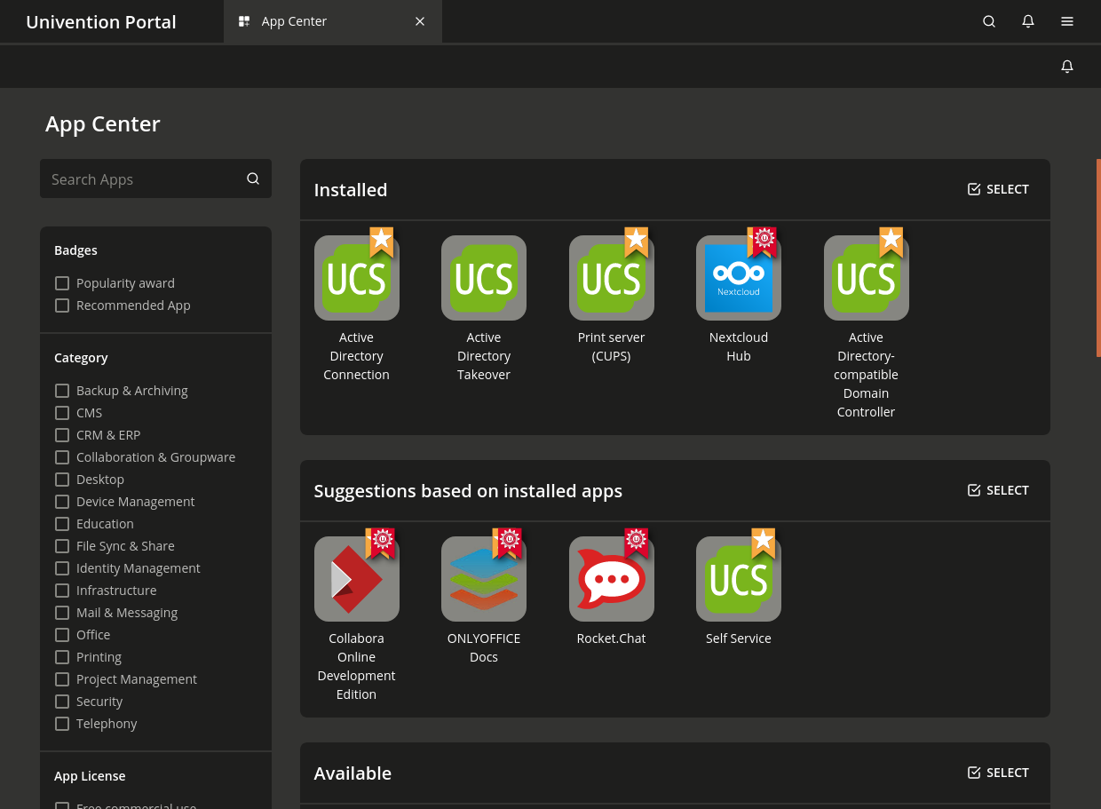 Appcenter Overview in UCS 5.0